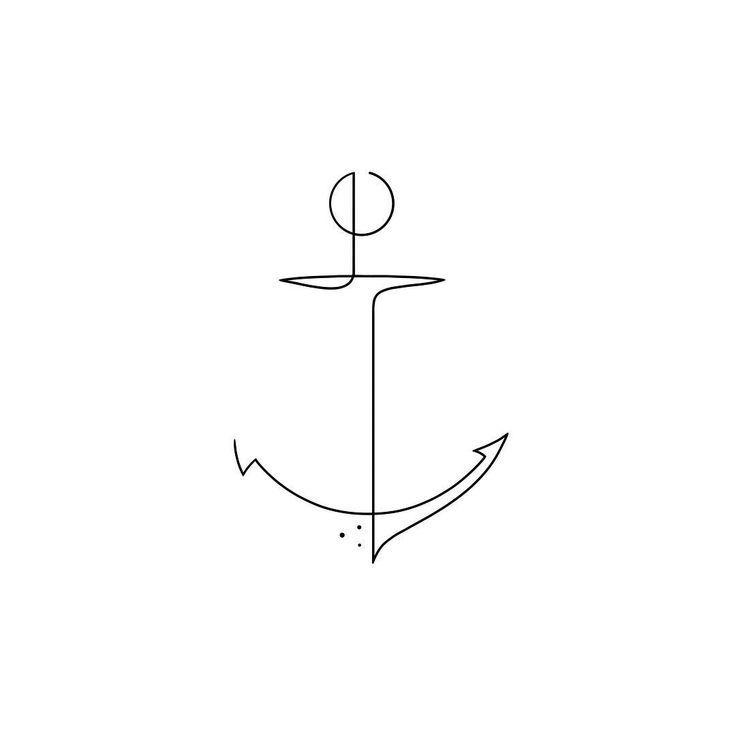 Mein Favorit ⚓ # moganji #singleline #oneline #minimalart Dieses Ankerdesign ist Teil …