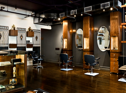 Pingl sur salon coiffure for Idee interior design