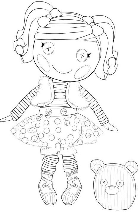 lalaloopsy mittens fluff n stuff coloring page printables for kids free word search puzzles - Lalaloopsy Printable Coloring Pages