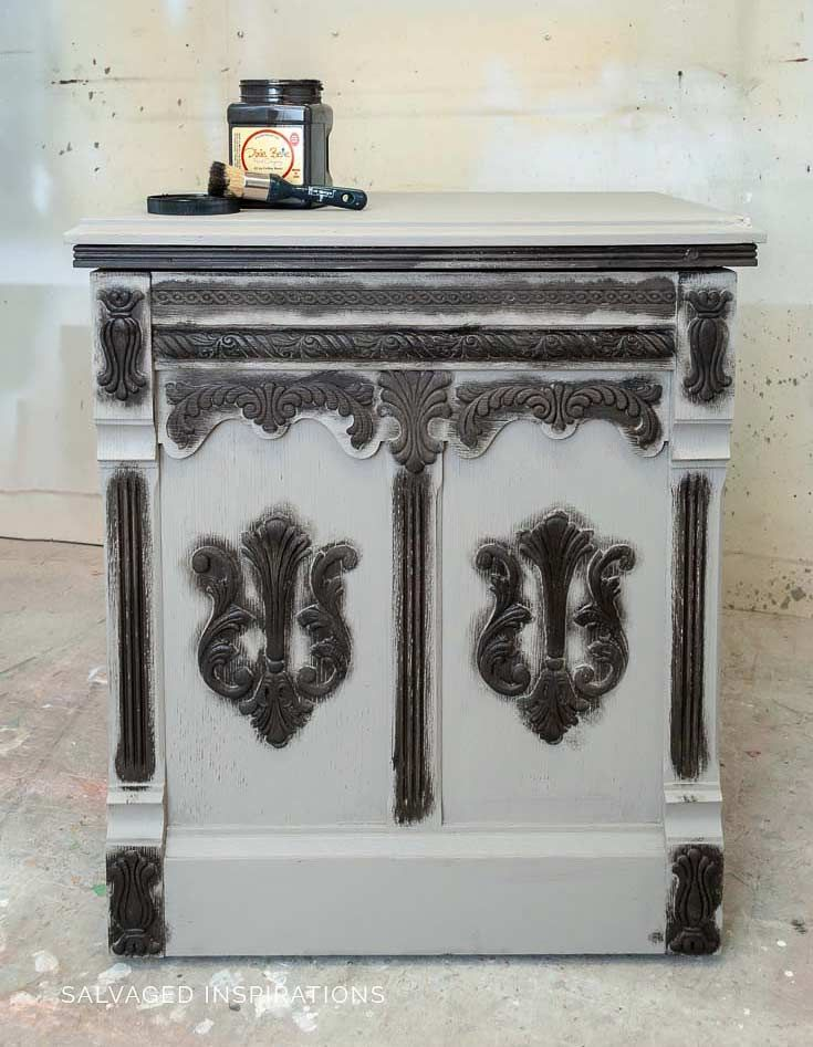 DIY Restoration Hardware Greige Paint Finish #restorationhardware