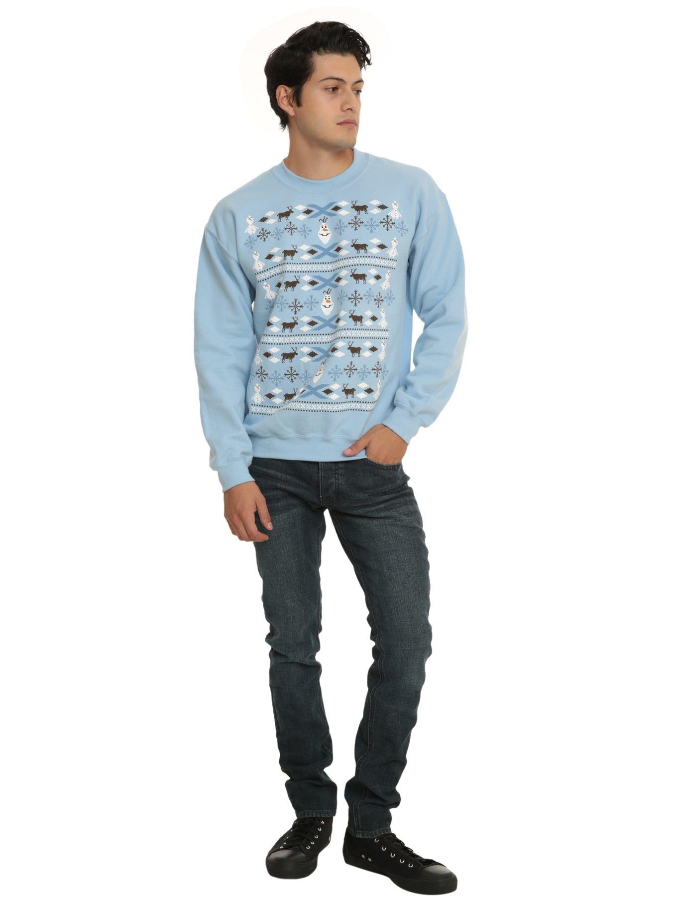 Disney Frozen Olaf Holiday Crewneck Sweatshirt | Hot Topic | Clothes ...