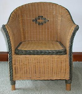 Childs Rattan Chair Convertible Single Sleeper Bed Antique Wicker Children S Furniture