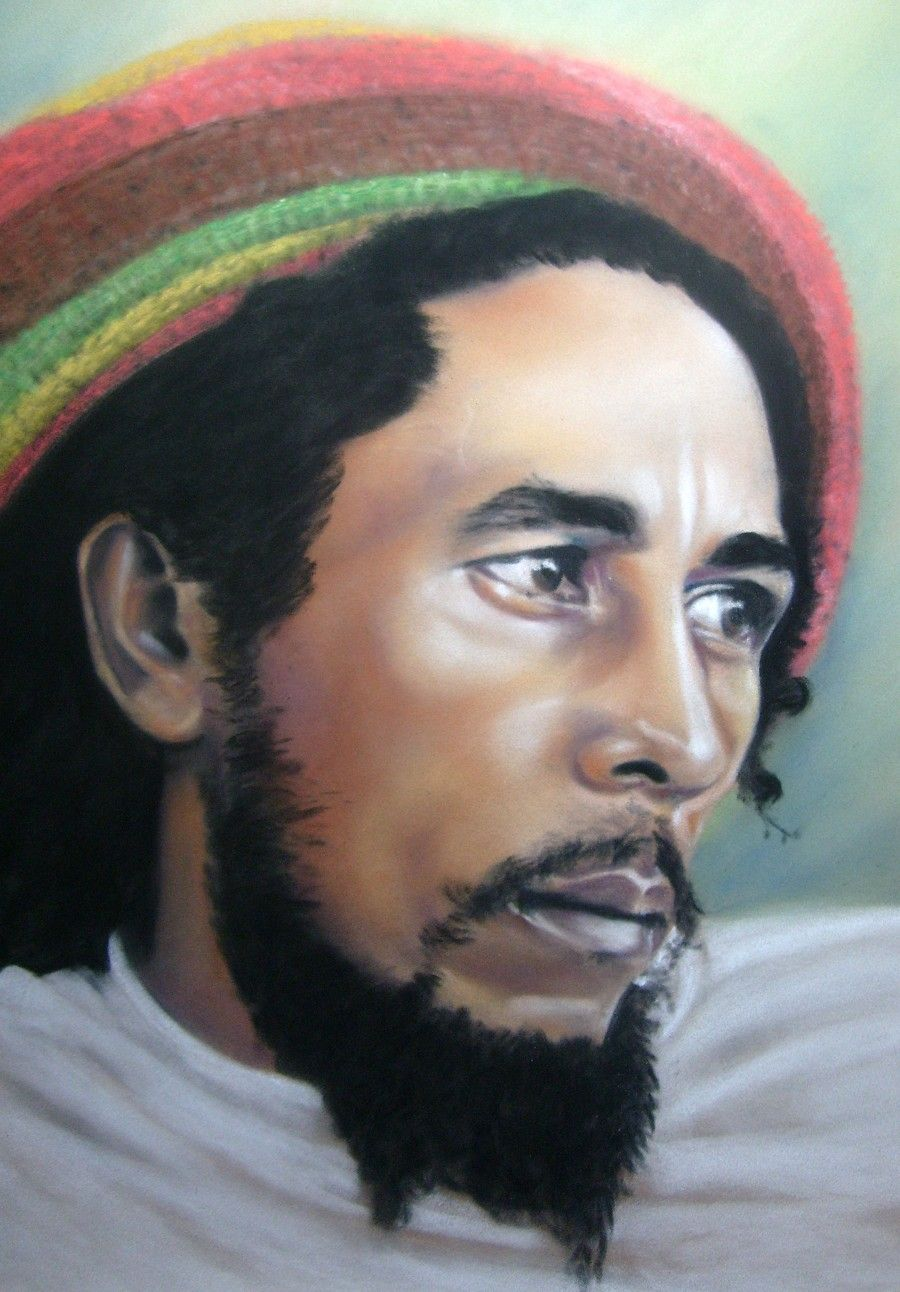 Val simms art icons and celebrities bob marley artwork pinterest