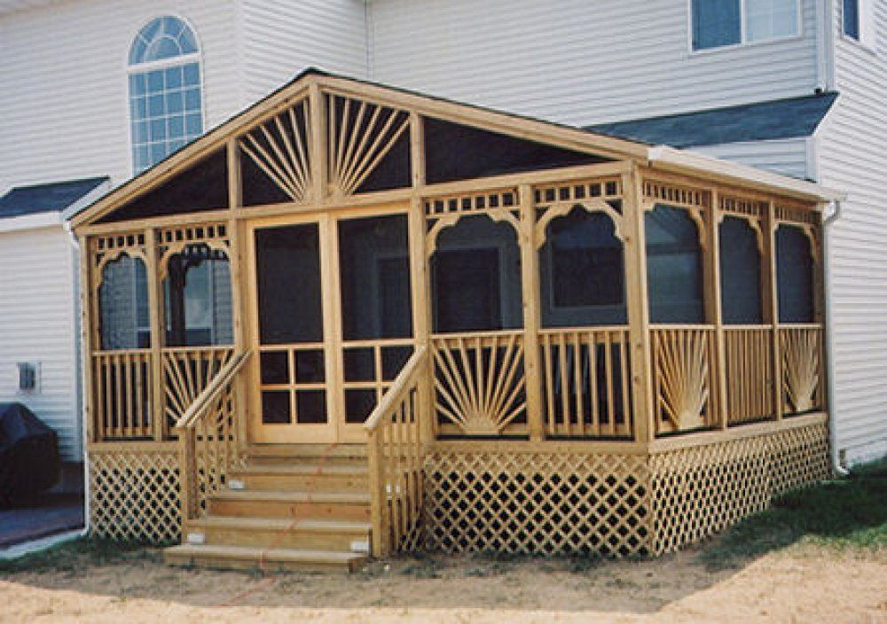 Enclosed Decks On Mobile Homes This Screened In Deck Uses Lots Of