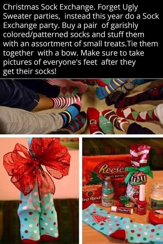 Christmas sock exchange  sc 1 st  Pinterest & Christmas sock exchange | Christmas is a Promise Kept! A Very ...