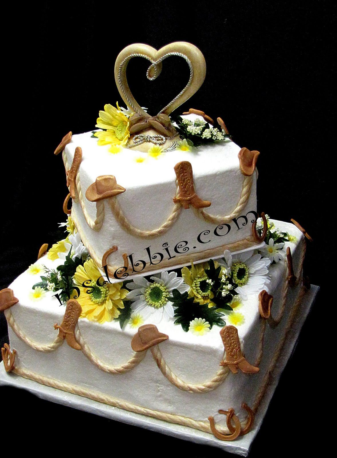 Cowboy Country Wedding Cake Ideas Lasso Style Ropes Made Of