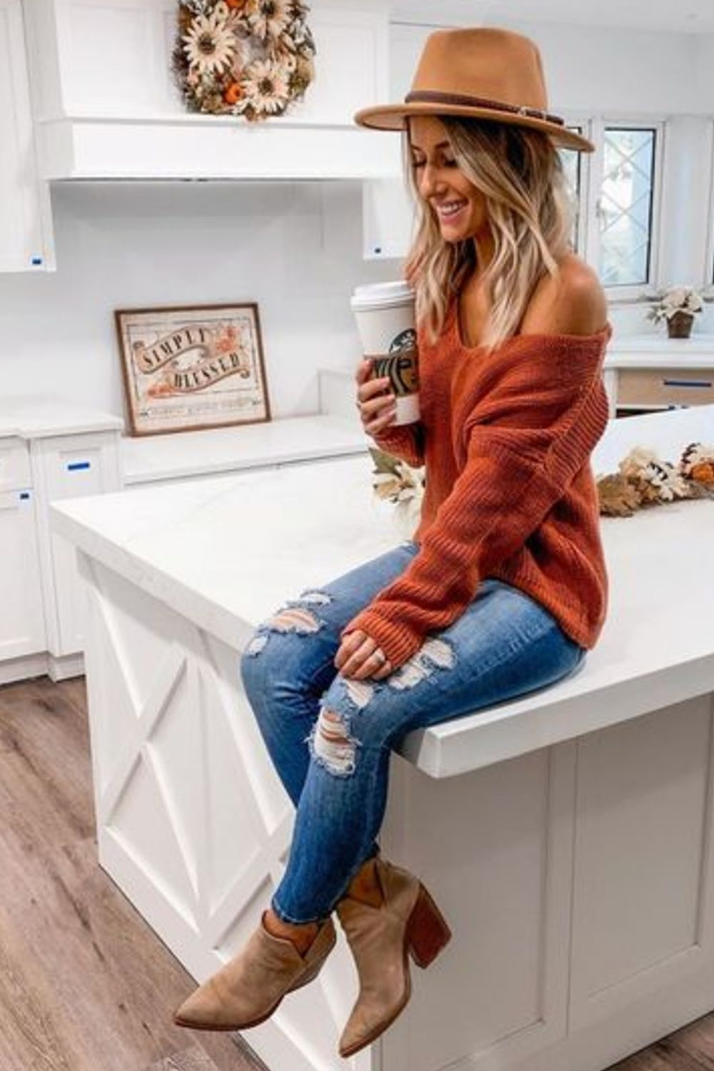 Women's Ankle Boots Casual Fashion Outfit - Fall winter outfits - Honorable BLog #falloutfits