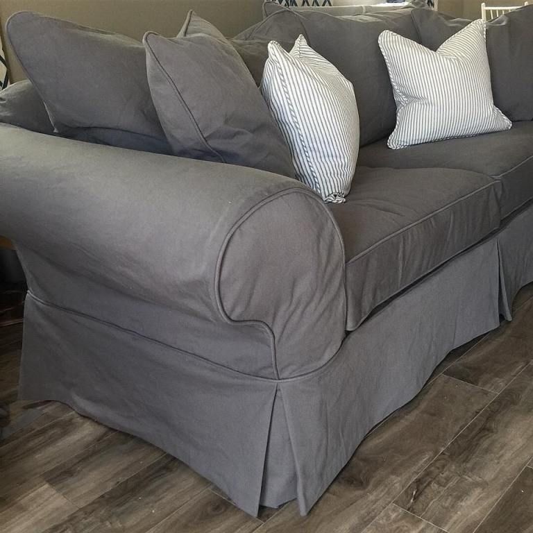 Grey Denim Fabric 7 Favorites For Washable Slipcovers Slip Covers Couch Couch Covers Slipcovers Slipcovered Sofa