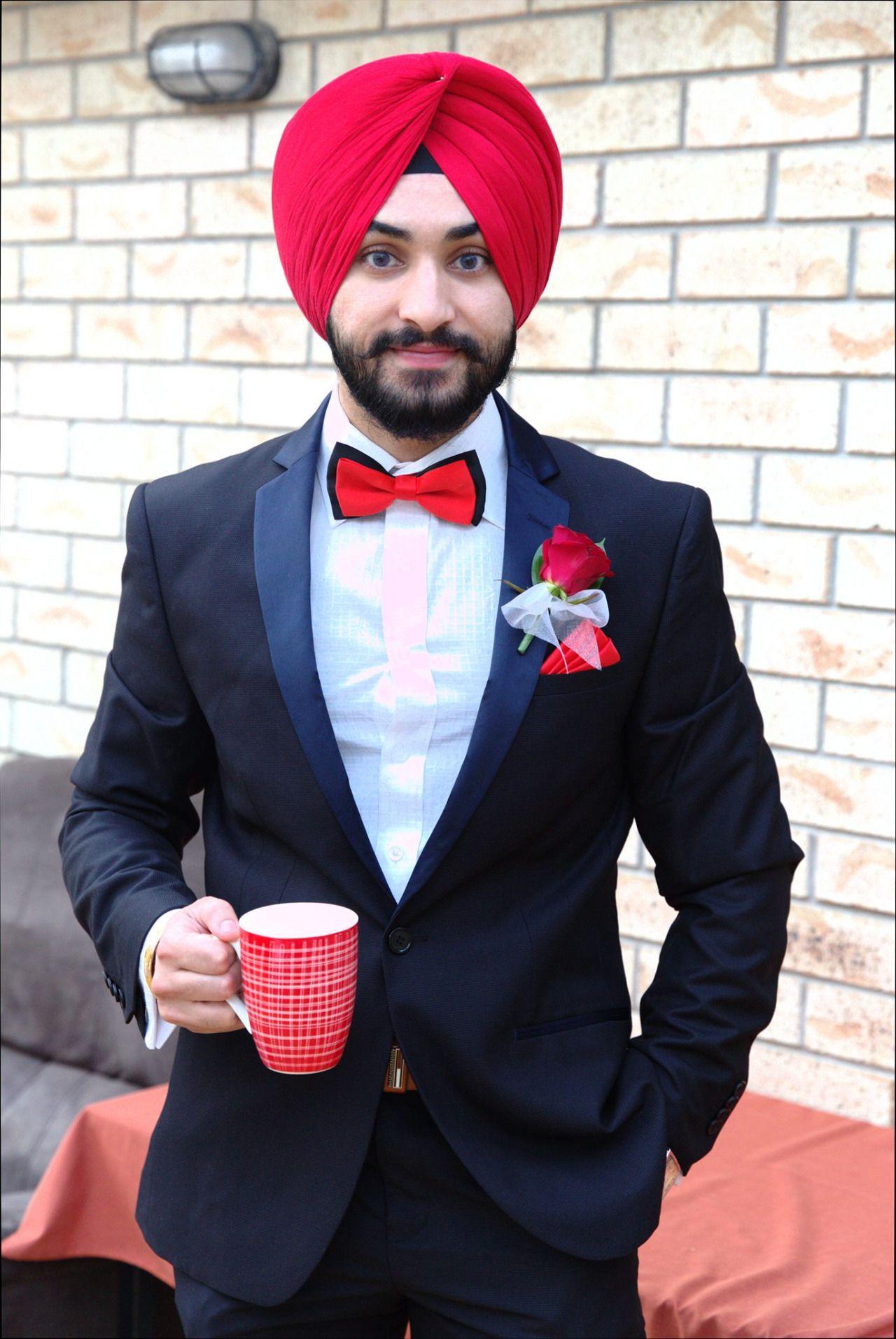 Urban Sardar Sikh Fashion Hi All To Spice Up Your Dark Tux Or To