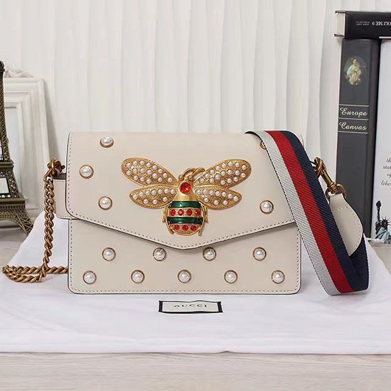 bdd78bf35d73 Gucci Broadway Pearly Bee Shoulder Bag 443168 | Gucci Bags | Bags ...