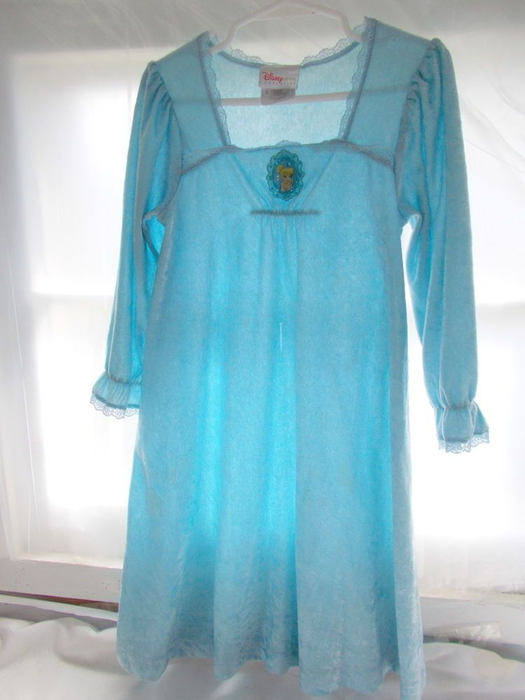 Disney Tinkerbell Night Gown Blue Girls Size 4/5 Costume #Disney ...