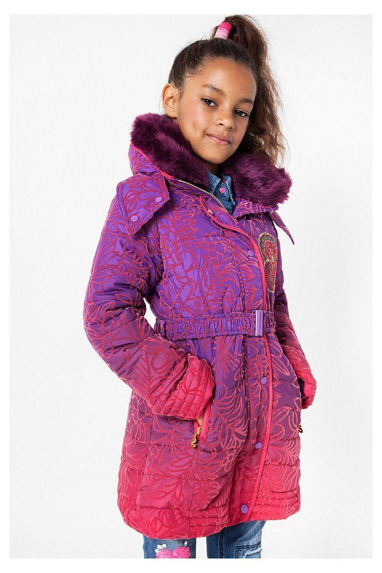 Abrigo lila acolchado para niña | Desigual.com 3125 | DESIGUAL KID ...