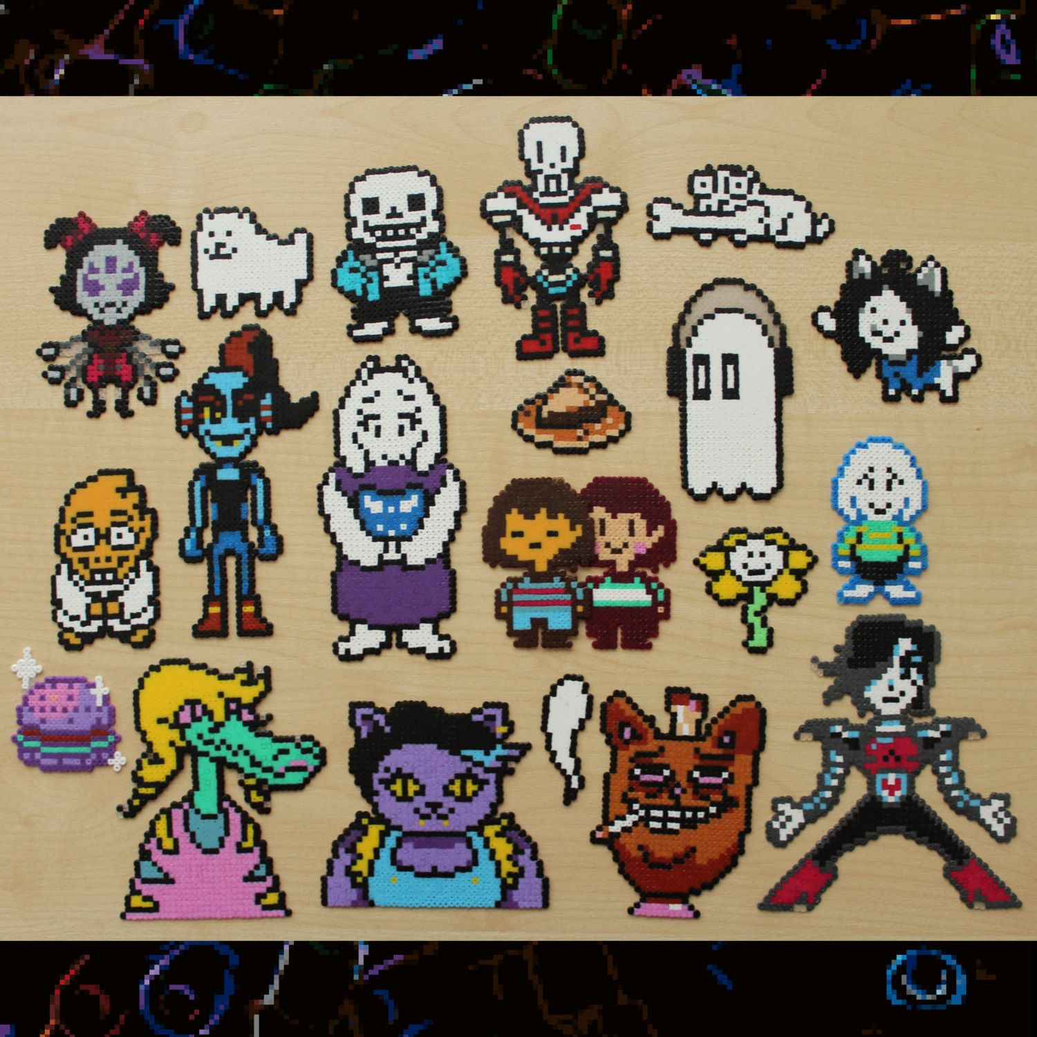 Undertale Characters And Accessories Perler Beads By Retr8bit