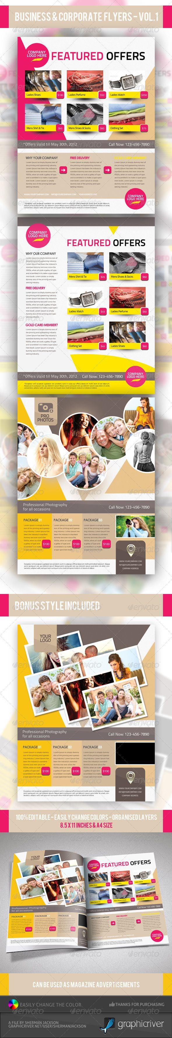 Business  Corporate Product Flyer Psd Templates  Psd Templates