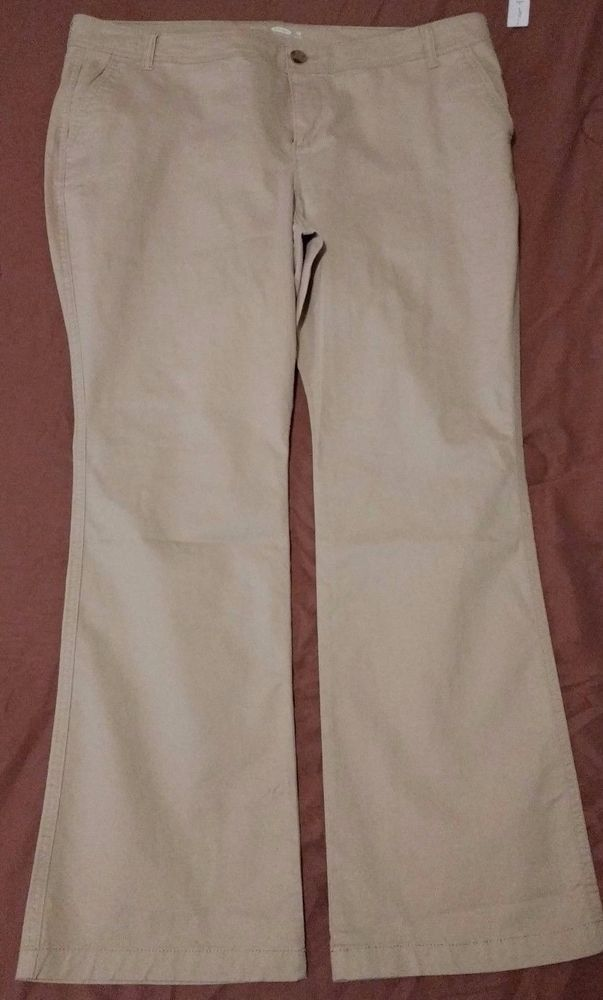 40735cfa237f7 Check out New with tags Old Navy boot cut khaki pants plus size 18 Petite