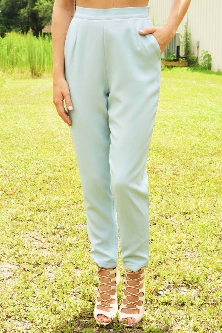 Share to save 10% on  your order instantly!  Make A Dream Last Pants: Powder Blue