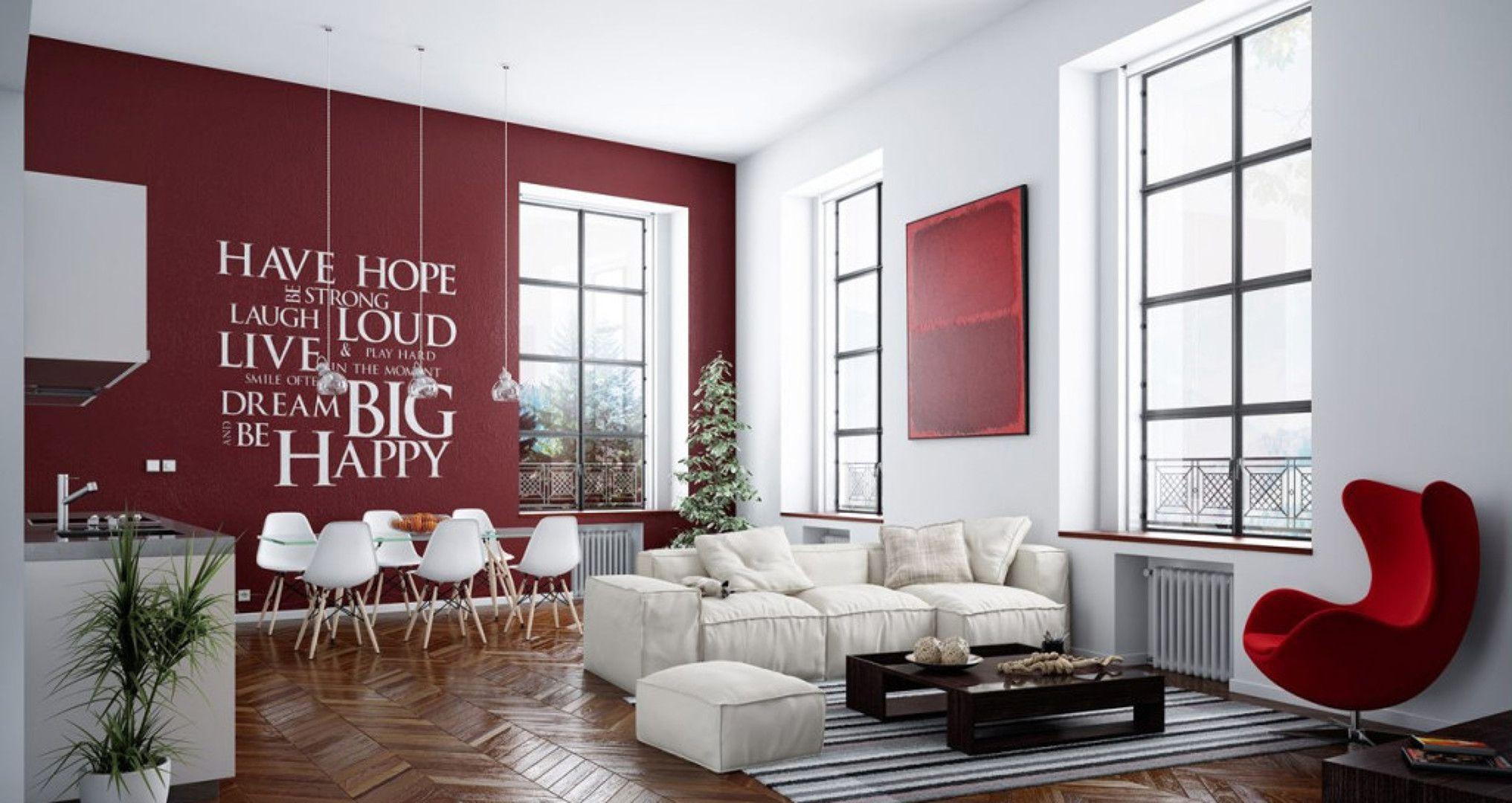 salón en rojo y blanco | Decor rojo | Pinterest