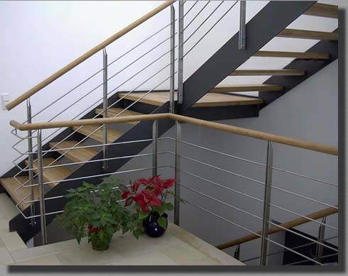 stahlwangentreppe mit zwischenpodest treppe pinterest. Black Bedroom Furniture Sets. Home Design Ideas
