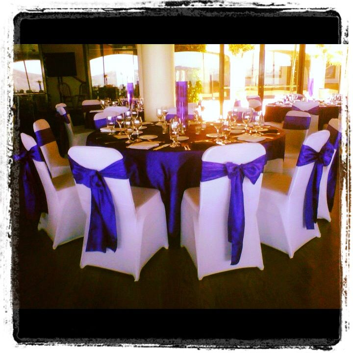 Remarkable White Spandex Chair Covers With Royal Purple Crinkled Theyellowbook Wood Chair Design Ideas Theyellowbookinfo