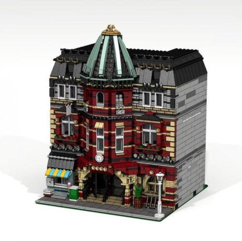 Lego Moc Moc 5973 Modular Brick School Building Instructions And