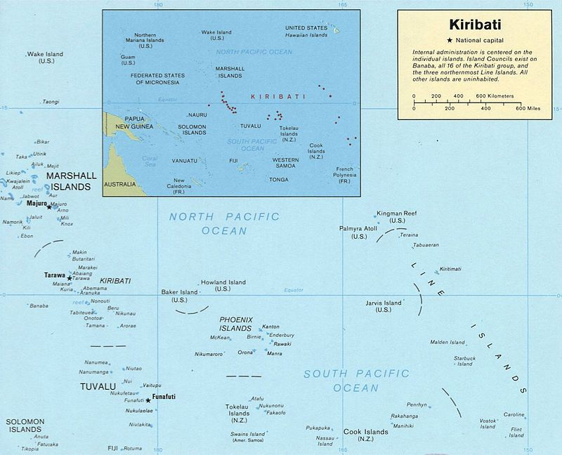 Kiribati map LOC Kiribati Pinterest Kiribati map
