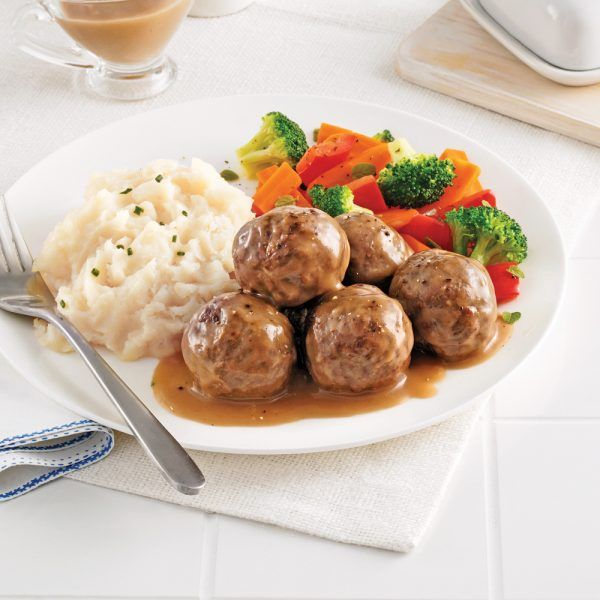 Photo of Swedish-style veal and beef meatballs