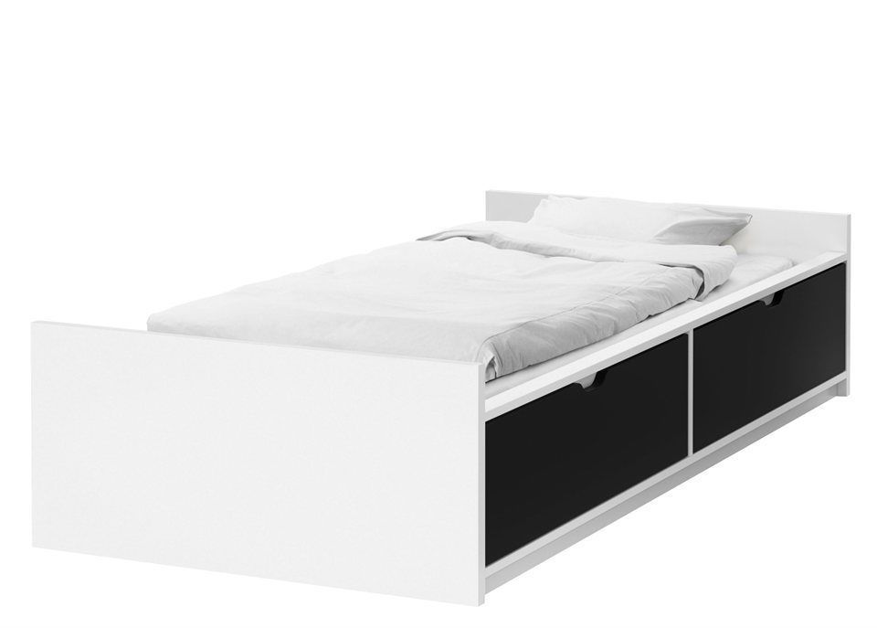 ikea bett odda kinderbett jugendbett bettgestell mit matratze und lattenrost kinderzimmer. Black Bedroom Furniture Sets. Home Design Ideas