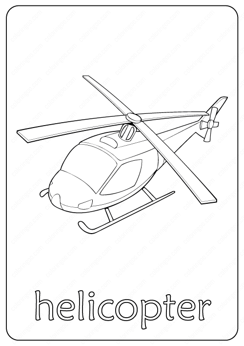 Printable Helicopter Coloring Page Book Pdf Coloring Pages Truck Coloring Pages Helicopter