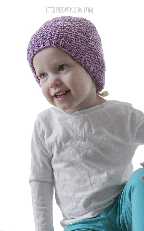 Easy Seed Stitch Baby Hat Knitting Pattern | Baby hat ...