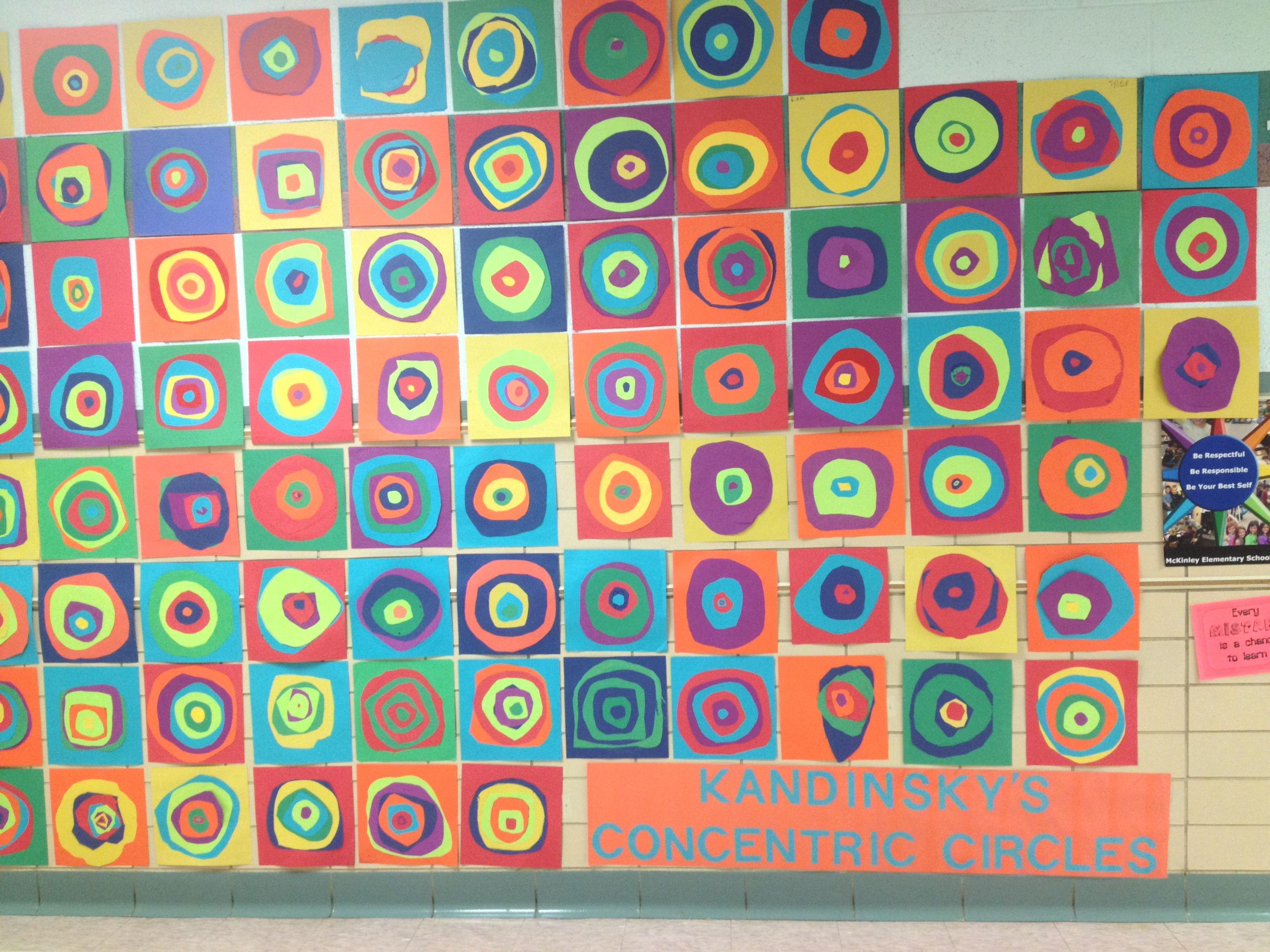 Kandinsky S Concentric Circles Elementary Art Grades 2