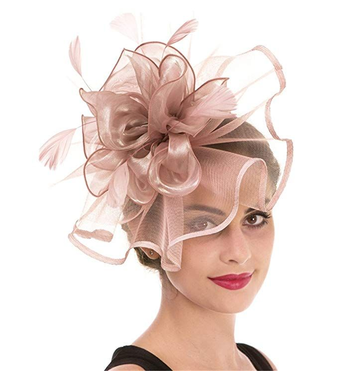 Royal Race Wedding Mesh Feather Pillbox Hat Fascinator Derby Party Headband Clip