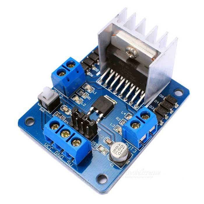 DIY L298N Dual H Bridge DC Stepper Motor Driver Board Module - Black. Find the cool gadgets at a incredibly low