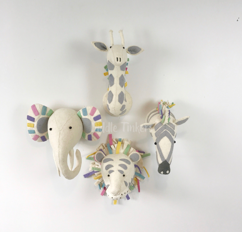 Fiona Walker Pastel Semi Giraffe Head
