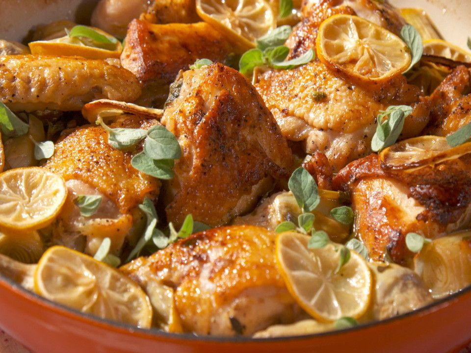 Lemon and Oregano Chicken Recipe Food network recipes
