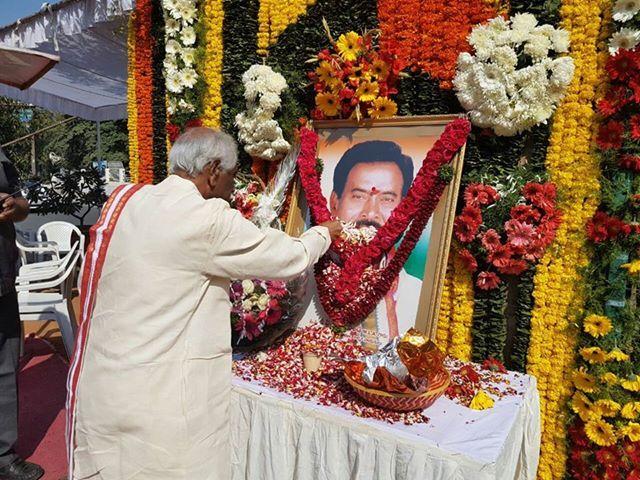 Paid tributes to Shri P Janardhan Reddy ji, Ex MLA and Former - reddy küchen trier