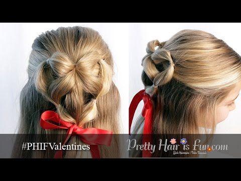 How To: Elastic Braid Heart: Valentine\'s Hairstyle | Hair tutorial ...