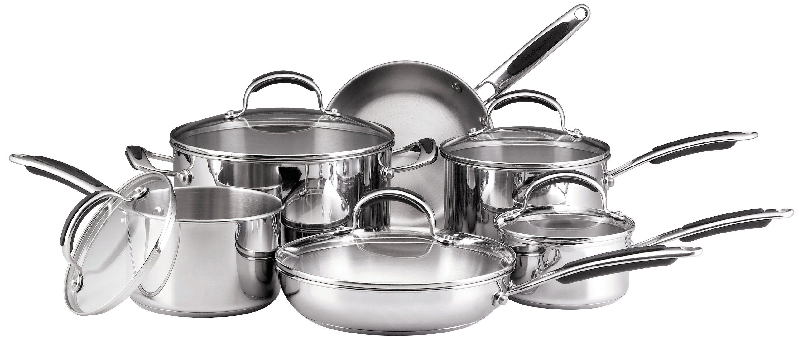Kitchenaid Cookware Set Stainless Steel 11 Piece Amazon