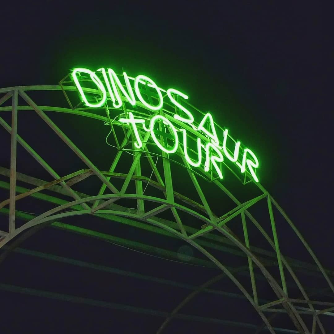 dinosaur tour Neon signs, Neon light signs, Cool neon signs