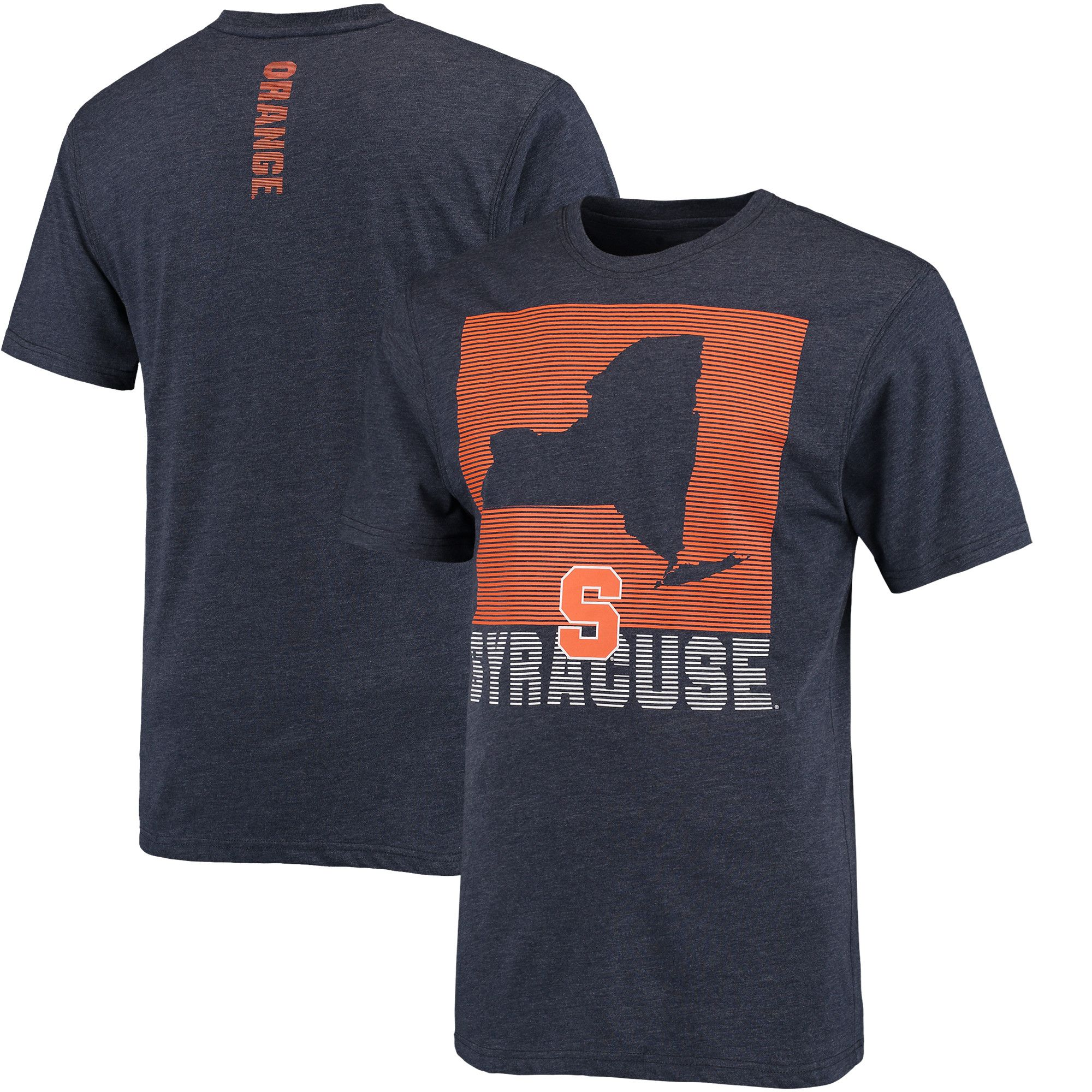 College Syracuse Orange Colosseum State of the Union T Shirt Navy