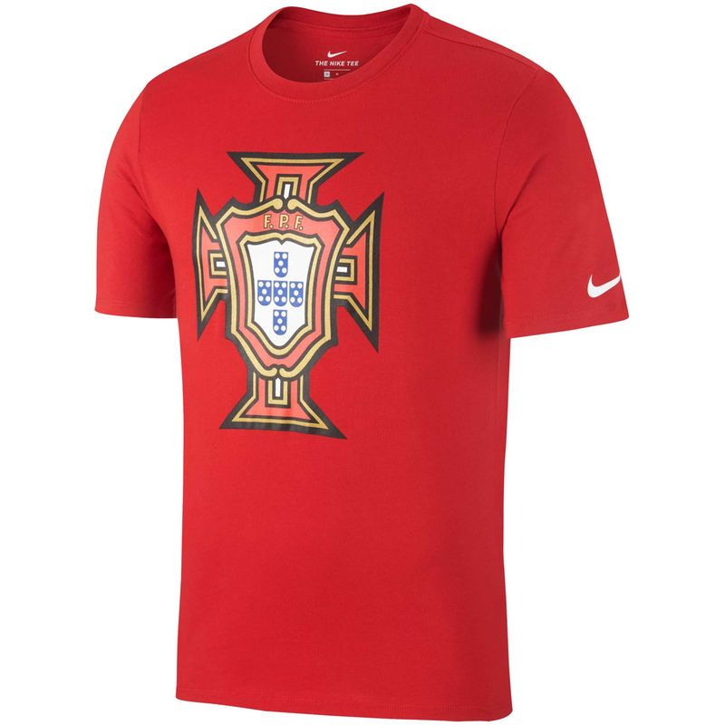 finest selection 33ac3 a67db Portugal National Team Nike Evergreen Crest T-Shirt – Red ...