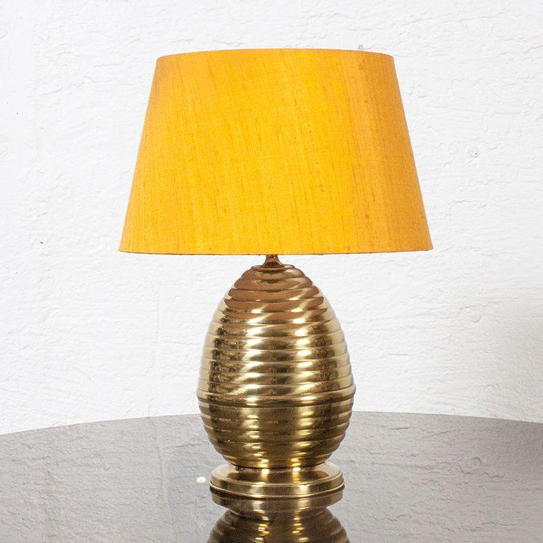 Maison Jansen Spiral Egg Table Lamp in brass #dustydeco #yellow #brass #lamp