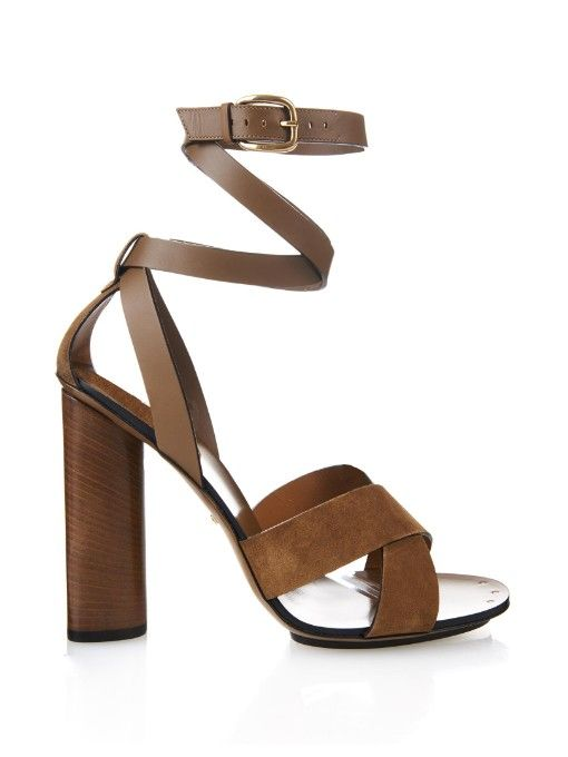 Gucci Leather and suede sandals
