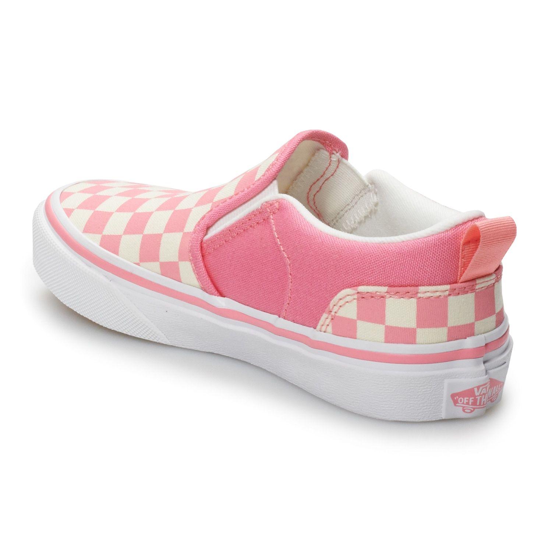 Checkered Vans Asher Girls' Skate Shoes