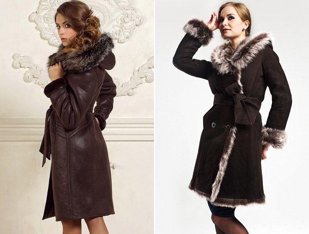 Модные дубленки-пальто 2017