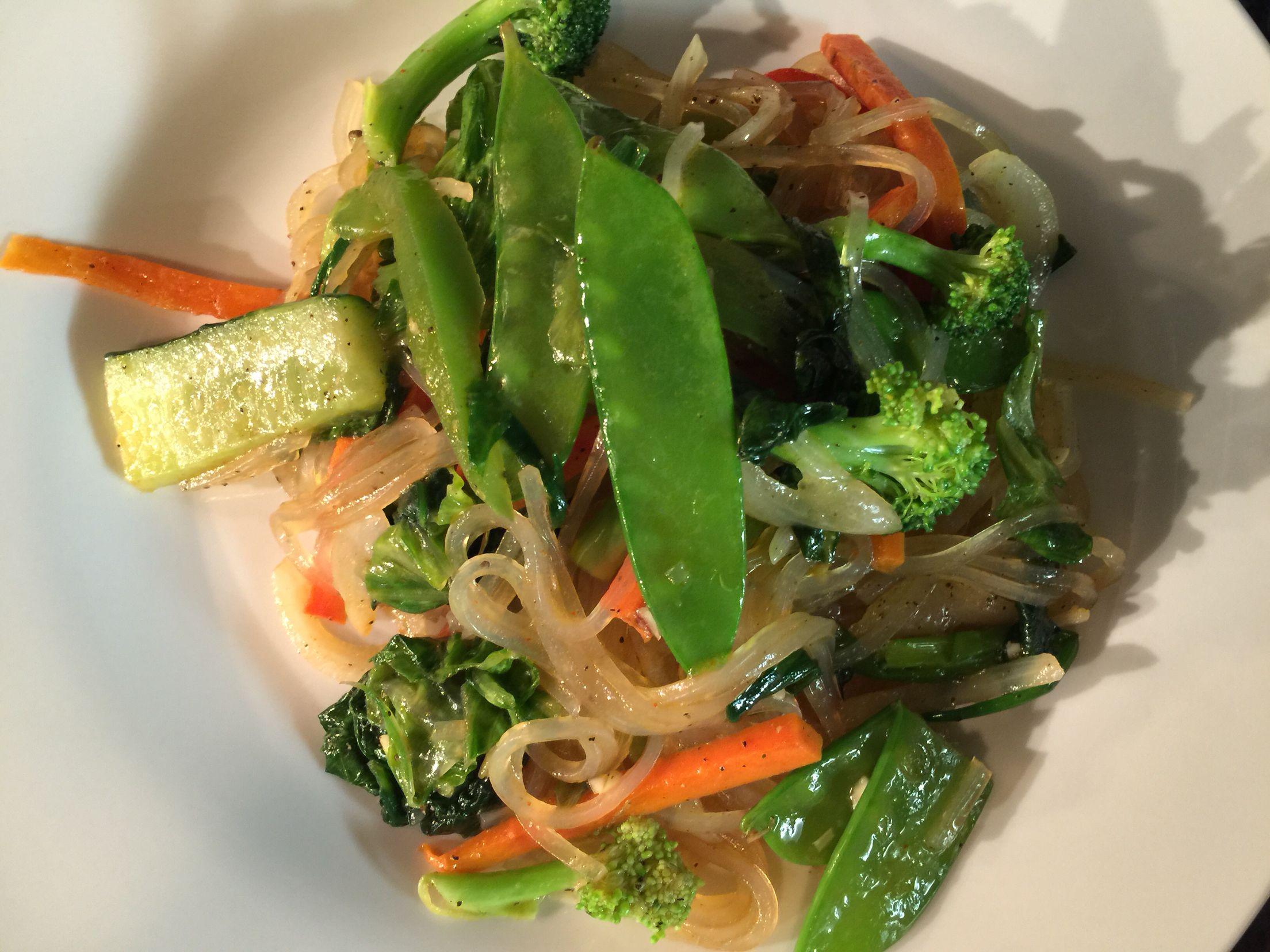 Vegetable glass noodles!