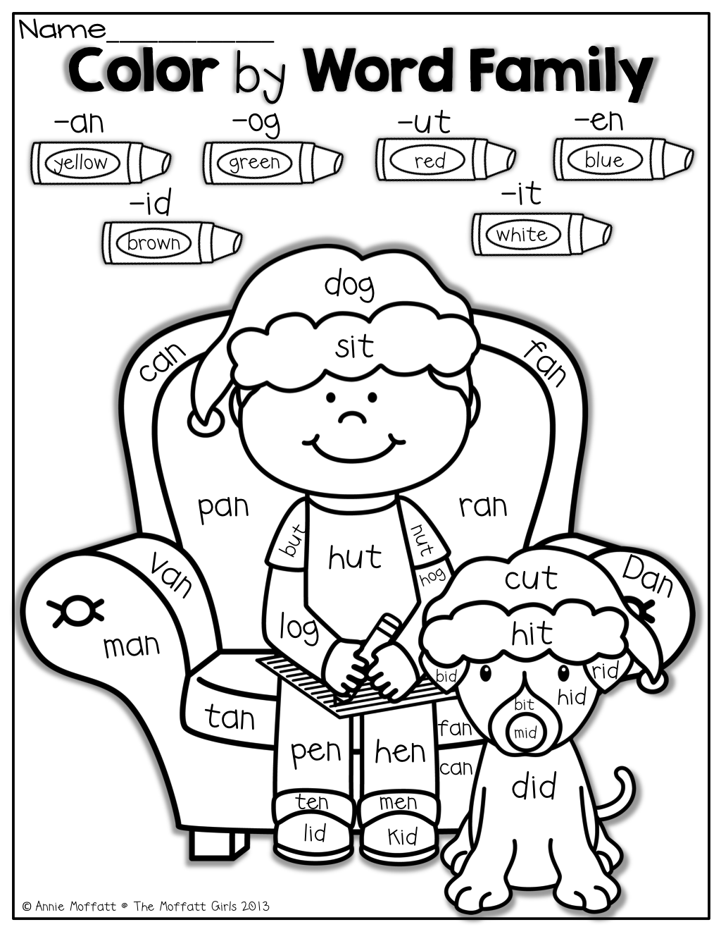 Christmas No Prep Packet Kindergarten Word Families Kindergarten Reading Kindergarten [ 1325 x 1024 Pixel ]