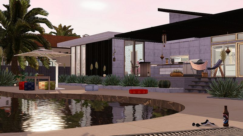 Sims 3 Landscaping, love the patio! The house and garden ...