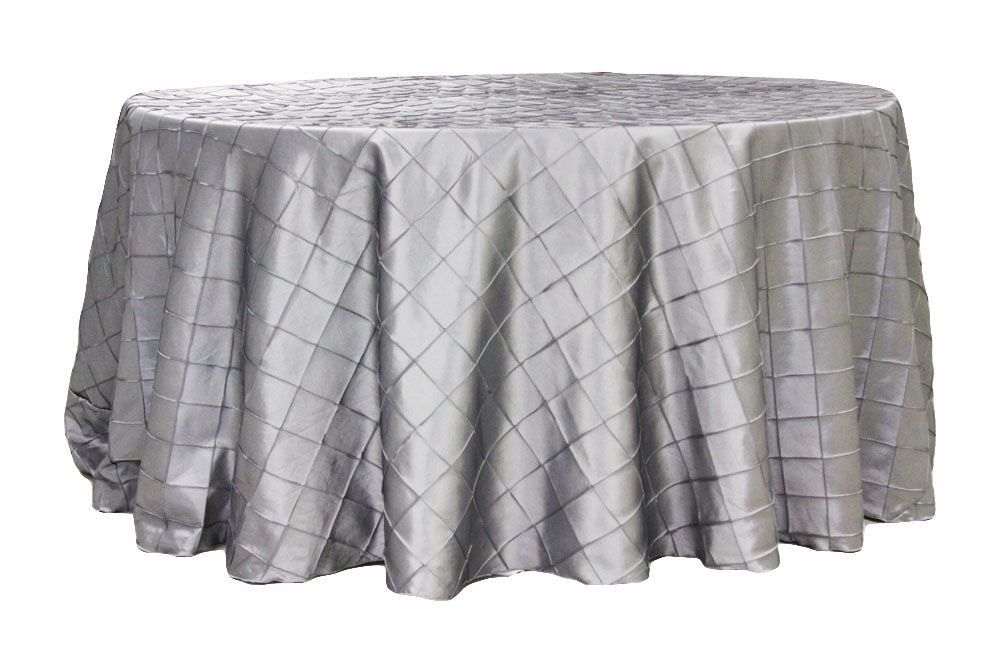 Pintuck 120 Round Tablecloth Silver 120 Round Tablecloth Table Cloth Round Tablecloth
