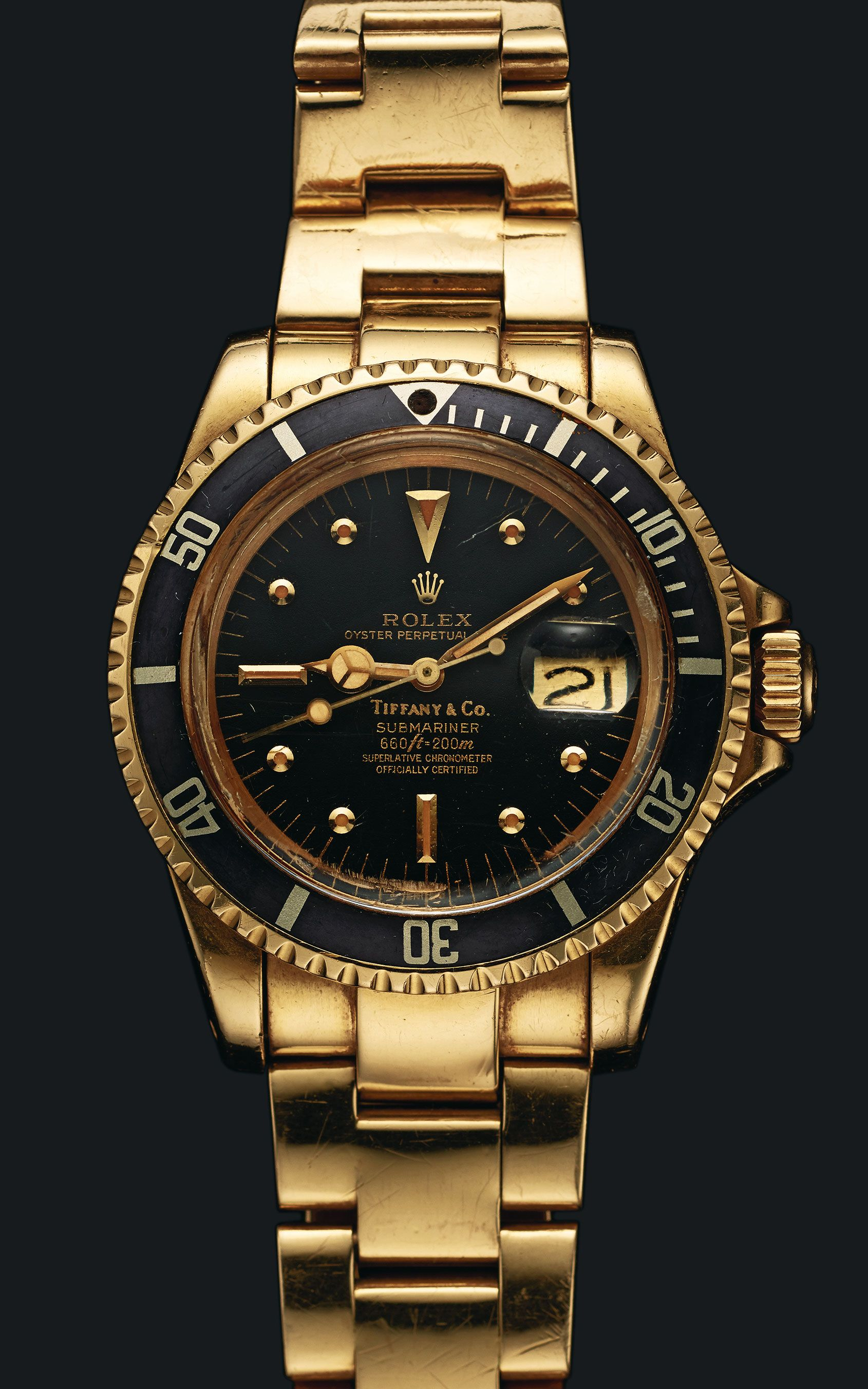 ef909b96c80 Sylvester Stallone and his Tiffany   Co Rolex Submariner