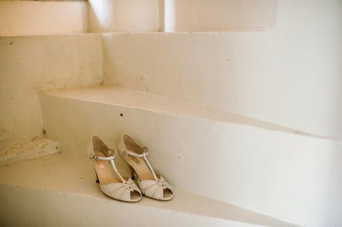 Bridal shoes - Spring Welsh Wedding - Sylvie and Joan
